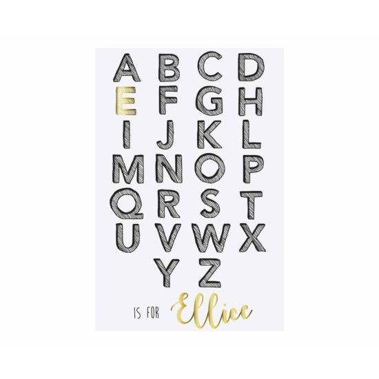 Ryman Personalised Unmounted Print Alphabet Initial