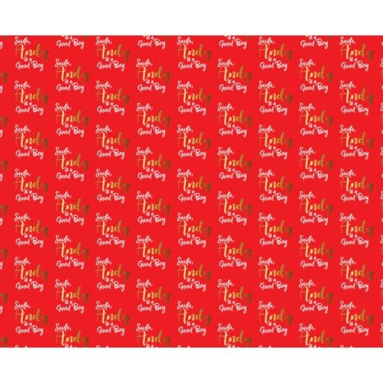Ryman Personalised Wrapping Paper Good Boy 1 Metre x 50cm