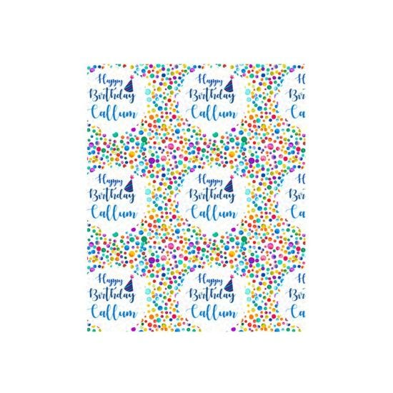 Ryman Personalised Wrapping Paper Birthday Confetti 1 Metre x 50cm