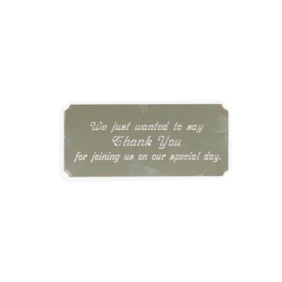 Personalised Engraved Self Adhesive Plate Silver