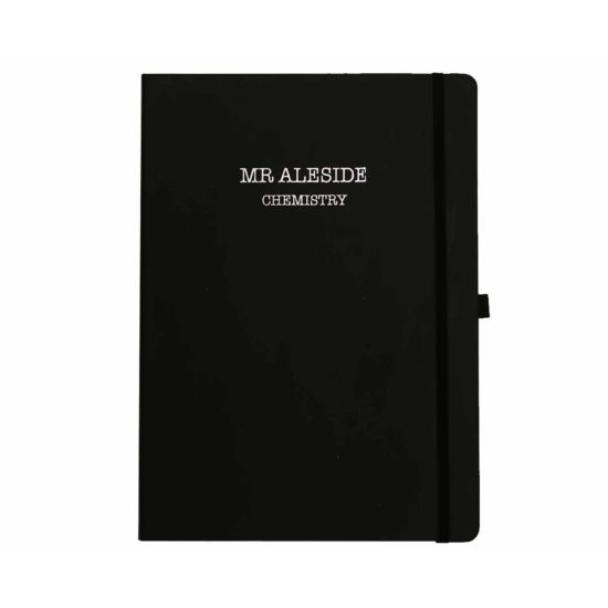 Ryman Personalised Soft Cover Large Notebook Name and Subject in Silver Foil