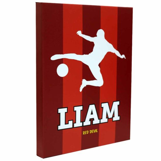 Personalised Football Guys Canvas Picture 12x16 Red