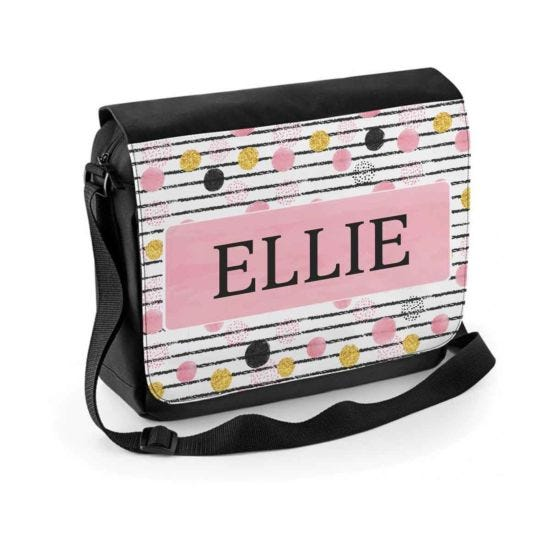 Ryman Personalised Spots Stripes Shoulder Bag
