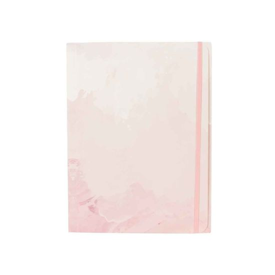 Eden Pink Gold Paper File with Elastic Binding