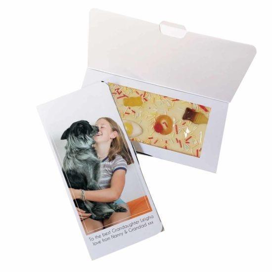 Personalised Photo Upload White Chocolate Card