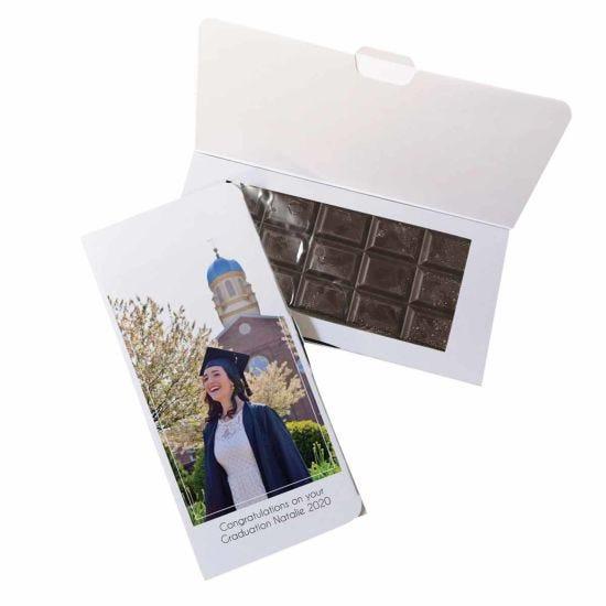 Personalised Photo Upload Dark Chocolate Card
