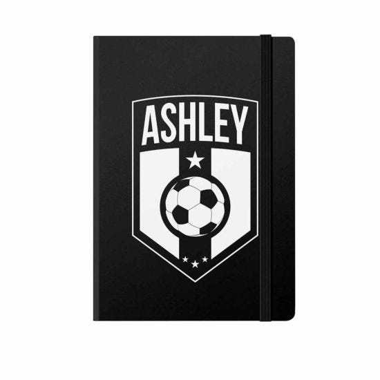 Personalised Football Badge Notebook A5