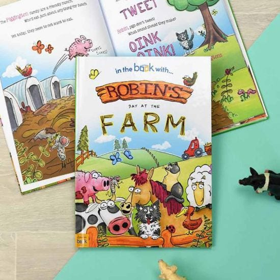 Personalised My Day at the Farm Softback Book