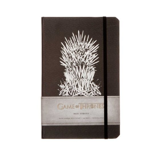 Game of Thrones Iron Throne Ruled Journal