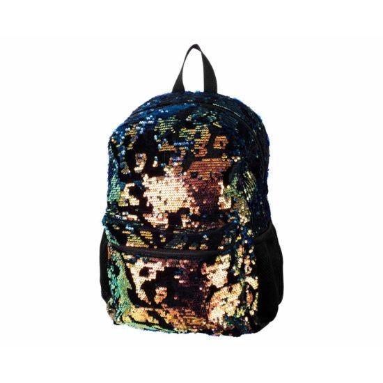 Ryman Flippable Sequin and Black Velvet Backpack