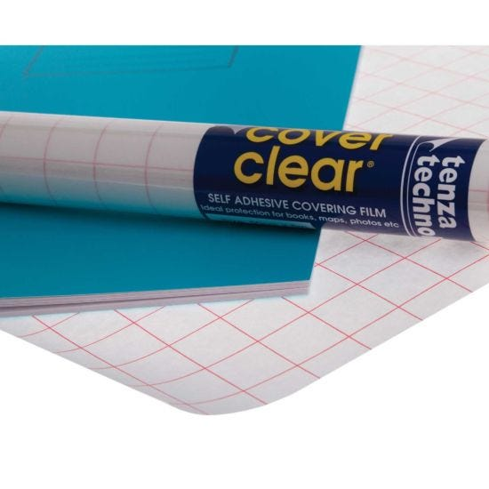 Tenza Book Covering 50cmx5m Pack of 12 Clear
