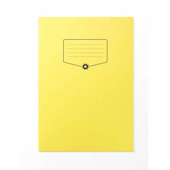 Silvine BACOFF Antibacterial Exercise Book A4 Yellow