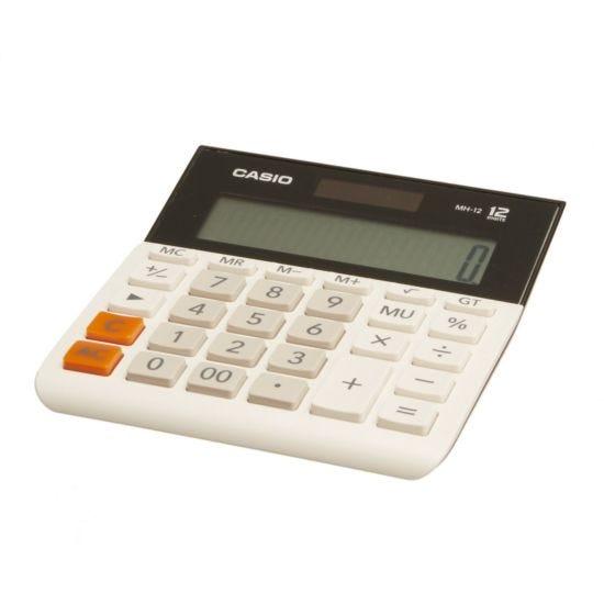 Casio MH-12-WE Digit Large Semi Desk Calculator