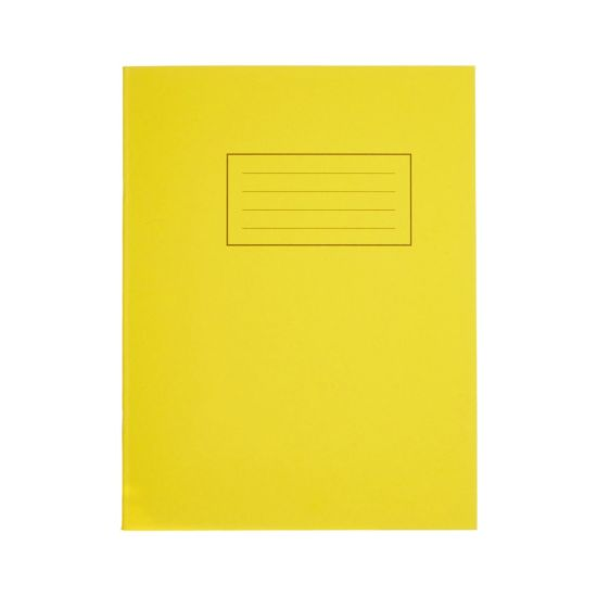 Silvine Exercise Book 9 Inch x 7 Inch 80 Page Ruled 75gsm Yellow