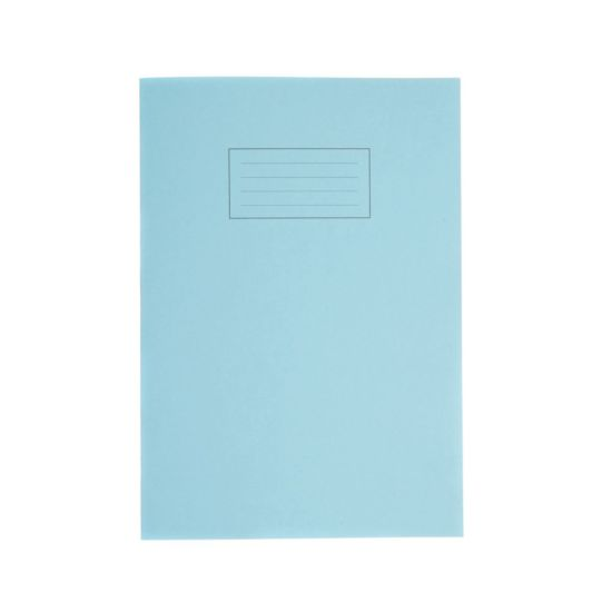 Silvine Exercise Book A4 80pg Ruled 75gsm Blue
