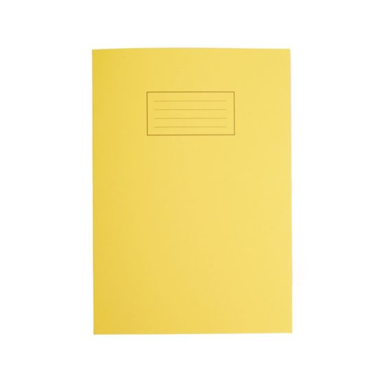 Silvine Exercise Book A4 80pg Ruled 75gsm Yellow