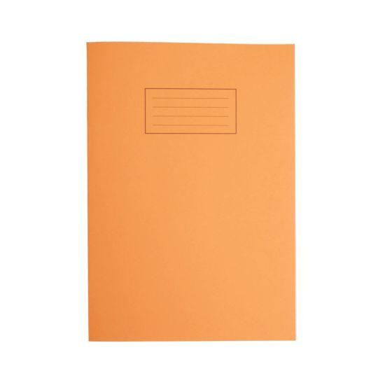 Silvine Exercise Book A4 80pg 5mm Squared 75gsm Orange