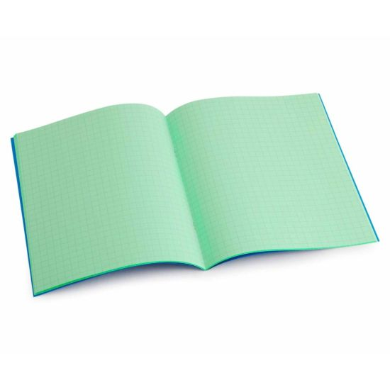 Tinted Exercise Book Standard 7x9 Squared 7.5mm Apple Green