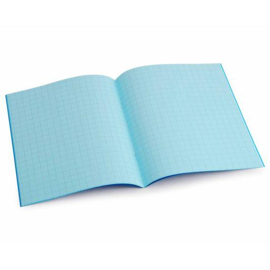 Tinted Exercise Book Standard 7x9 Squared 10mm Aqua