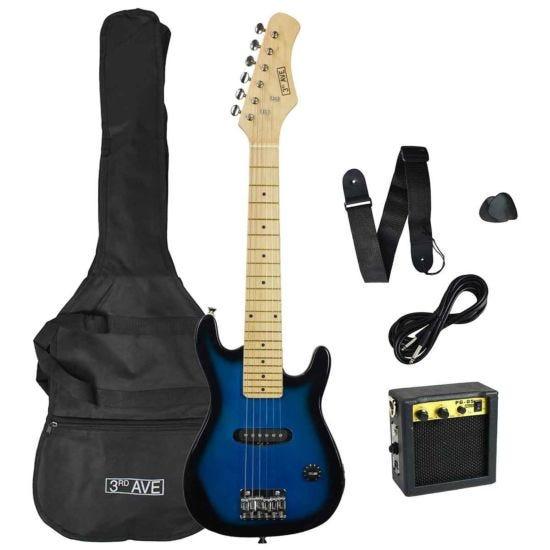 3rd Avenue Junior Electric Guitar Pack Blue/Black
