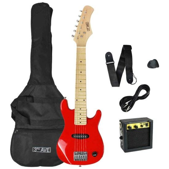 3rd Avenue Junior Electric Guitar Pack Red