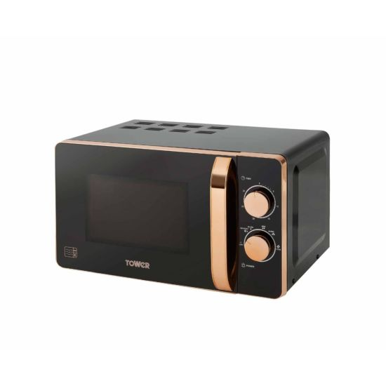 Tower Rose Gold Edition Manual Microwave 20L 800W Black