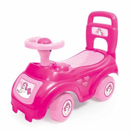 Charles Bentley Dolu Kids Push Along Sit n Ride Car with Under Seat Storage Pink