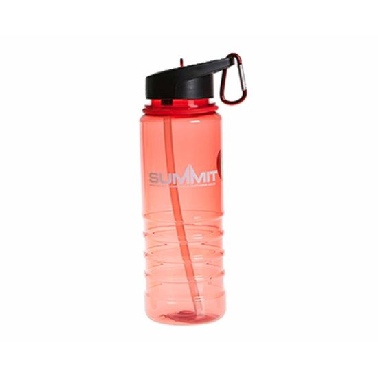 Summit Water Bottle with Carabiner 700ml Red
