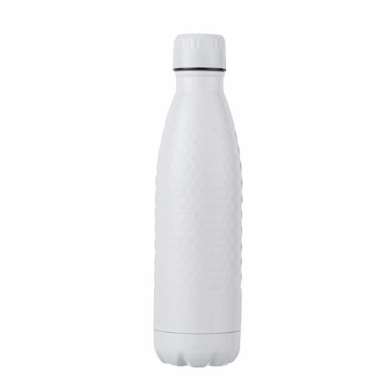 B and Co Honeycomb Stainless Steel Bottle 500ml White