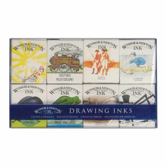 Winsor and Newton William Collection Drawing Ink Set of