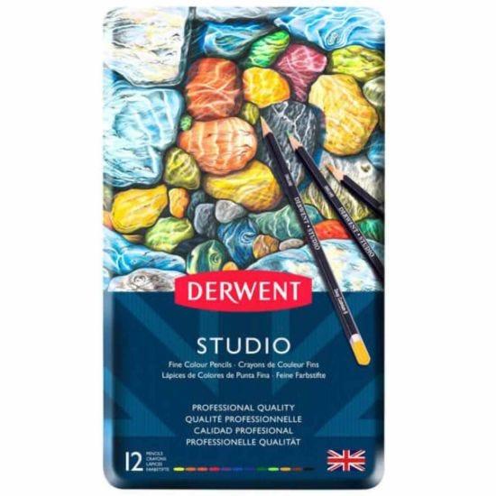 Derwent Studio Colour Pencil Tin of 12