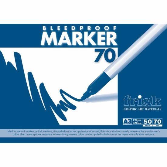 Frisk Bleedproof Marker Pad A3 70gsm 50 Sheets