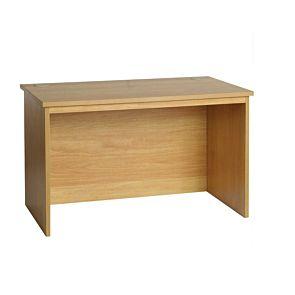 R White Regular Desk B-RDK H728xW1200xD700mm Walnut