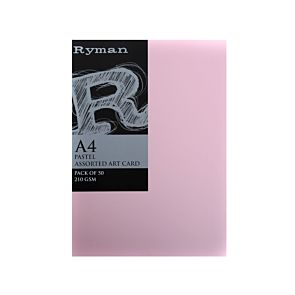 Ryman Art Card A4 210gsm Pack 50