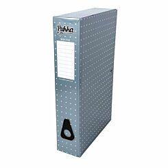Pukka Metallic Foolscap Box File Metallic Blue
