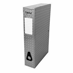 Pukka Metallic Foolscap Box File Metallic Silver