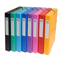 Exacompta Box File A4 25mm Pack of 8 Assorted