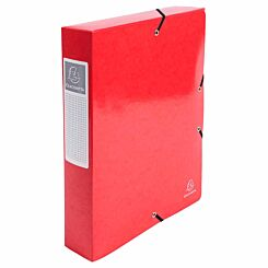 Exacompta Iderama Elasticated A4 Box File 60mm Pack of 8 Red