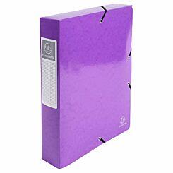 Exacompta Iderama Elasticated A4 Box File 60mm Pack of 8 Purple