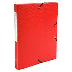 Exacompta Elasticated Polypropylene Box File A4 25mm Pack of 8 Red