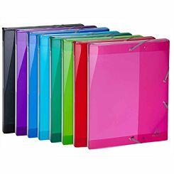 Exacompta Iderama Elasticated Box File PP A4 25mm Pack of 8