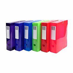 Exacompta Iderama Elasticated Box File PP A4 80mm Pack of 6
