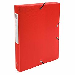 Exacompta Elasticated Polypropylene Box File A4 40mm Pack of 8 Red
