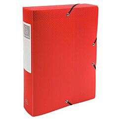 Exacompta Elasticated Opaque Polypropylene Box File A4 60mm Pack of 8 Red