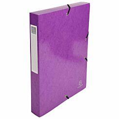 Exacompta Iderama Box File A4 Pack of 8 600gsm Purple
