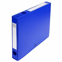 Exacompta Press Stud Opaque Filing Box 40mm Spine A4 Pack of 10 Blue
