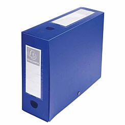 Exacompta Press Stud Opaque Filing Box 100mm Spine A4 Pack of 10 Blue