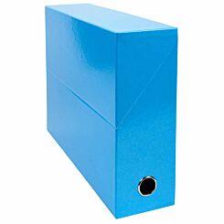 Exacompta Iderama Filing Box 90mm Pack of 5 Light Blue