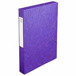 Exacompta Elasticated Box File Pressboard A4 40mm Pack of 10 Purple