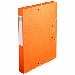 Exacompta Elasticated Box File Pressboard A4 40mm Pack of 10 Orange